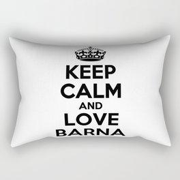 Keep calm and love BARNA Rectangular Pillow