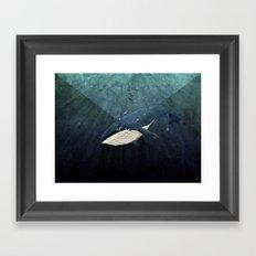 Everett's Whale Framed Art Print