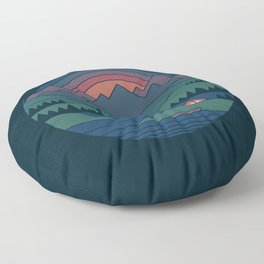 The Lake At Twilight Floor Pillow