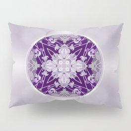 Vinyl Record Illusion in Purple Pillow Sham