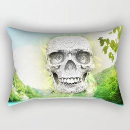 Skull Sun Rectangular Pillow