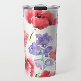 Poppies and Bells Travel Mug