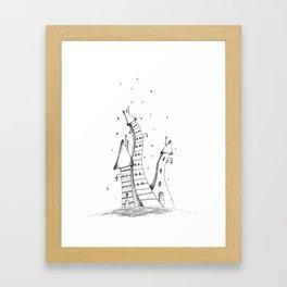 cute houses Framed Art Print