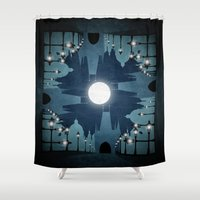prague Shower Curtains featuring prague city by Darthdaloon