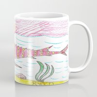 tennessee Mugs featuring Tennessee Lake Sturgeon by Ryan van Gogh