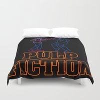 pulp Duvet Covers featuring Pulp Fiction by Studio 401