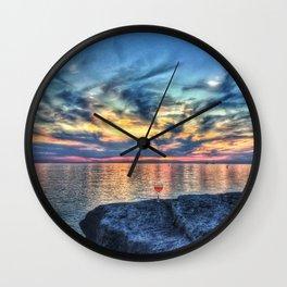 Wine & Sunsets Wall Clock