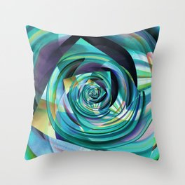 Spinning Cube Throw Pillow
