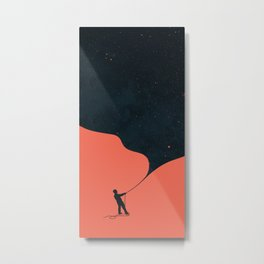 Night fills up the sky Metal Print