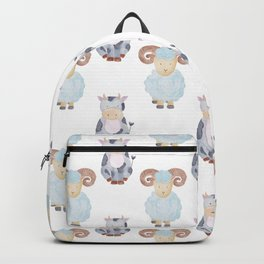 Cow and Sheep Pattern Backpack