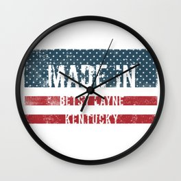 Made in Betsy Layne, Kentucky Wall Clock
