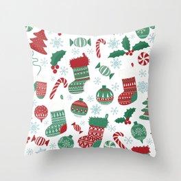Christmas Pattern 05 Throw Pillow