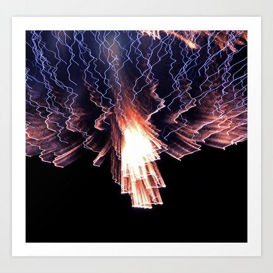 Cloud of fire Art Print