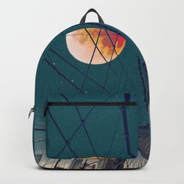 Blood Moon over the Brooklyn Bridge and New York City Skyline Backpack