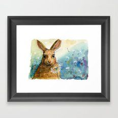 Funny rabbits - With Dandelions 548 Framed Art Print