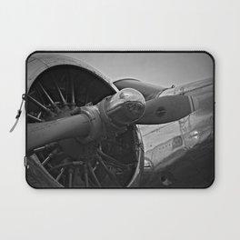 Black and White vintage airplane Laptop Sleeve