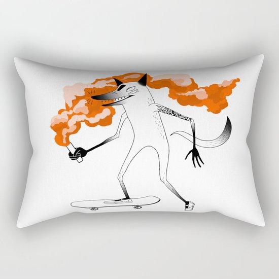 Fox Skateboarder2 Rectangular Pillow