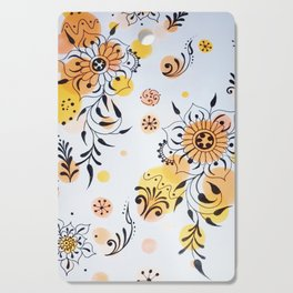 Summer Blossoms Cutting Board