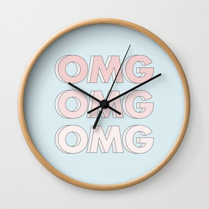 OMG OMG OMG Wall Clock