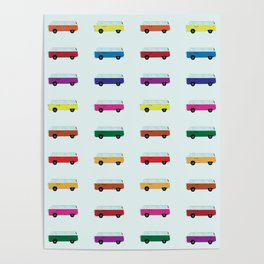 Cute Little Campers Poster