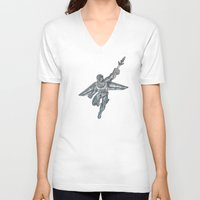 hawk V-neck T-shirts featuring Hawk by design beast