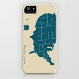 Modern Map - United States of America USA iPhone Case