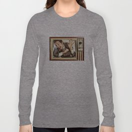 Man trapped in TV Long Sleeve T-shirt