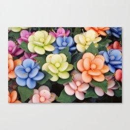 Sugared almonds as petals Canvas Print