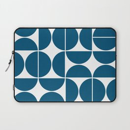 Mid Century Modern Geometric 04 Blue Laptop Sleeve