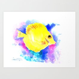 Yellow Angelfish Art Print