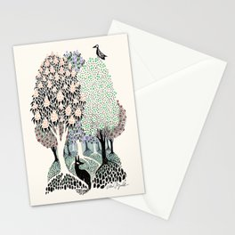 Garden Trees Stationery Cards