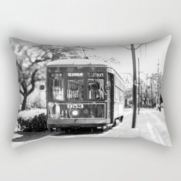 New Orleans St. Charles Streetcar Rectangular Pillow