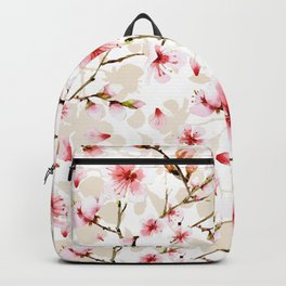 Watercolor cherry blossom pattern Backpack