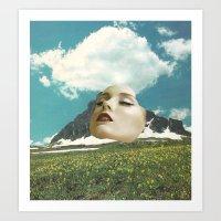 rushmore Art Prints featuring Mount Rushmore by Jordan Clark