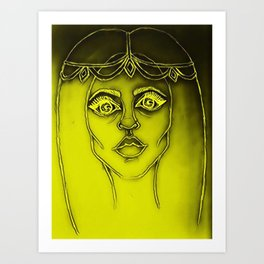 Yellow Gypsy Girl Art Print