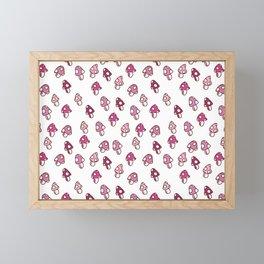 Pink Fairy Toadstools Pattern - seamless pattern Framed Mini Art Print