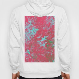 Pink Abstract Paint Hoody