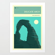 ARCHES NATIONAL PARK POSTER (Delicate Arch) Art Print