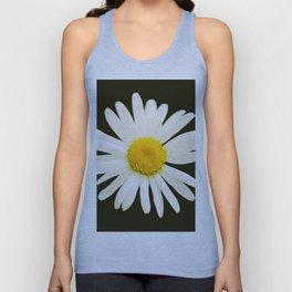 Daisy on a black background - #Society6 #buyart Unisex Tank Top