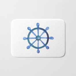 Navigating the seas Bath Mat