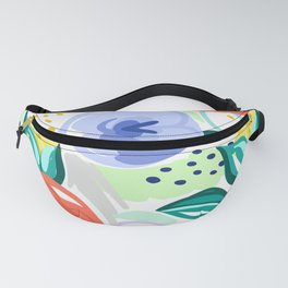 Flowers red pattern Fanny Pack