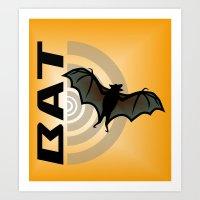 bat Art Prints featuring BAT by BATKEI