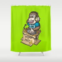 ape Shower Curtains featuring DJ Ape by leon-design