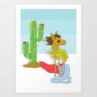 Stickhorse Art Print