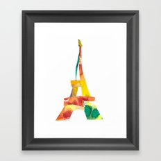 Colorful France Framed Art Print