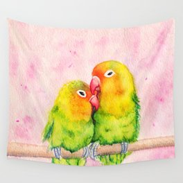 Lovebirds Wall Tapestry