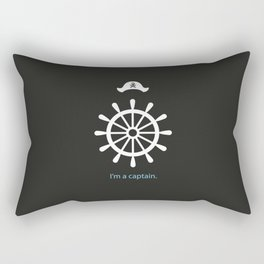 I'm a captain.(on black) Rectangular Pillow