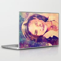angelina jolie Laptop & iPad Skins featuring JOLIE by Ruy Arte Hewitt