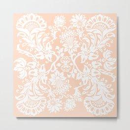 Pattern #13 PeachWhite Metal Print