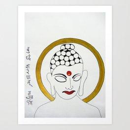 Buddha X Art Print